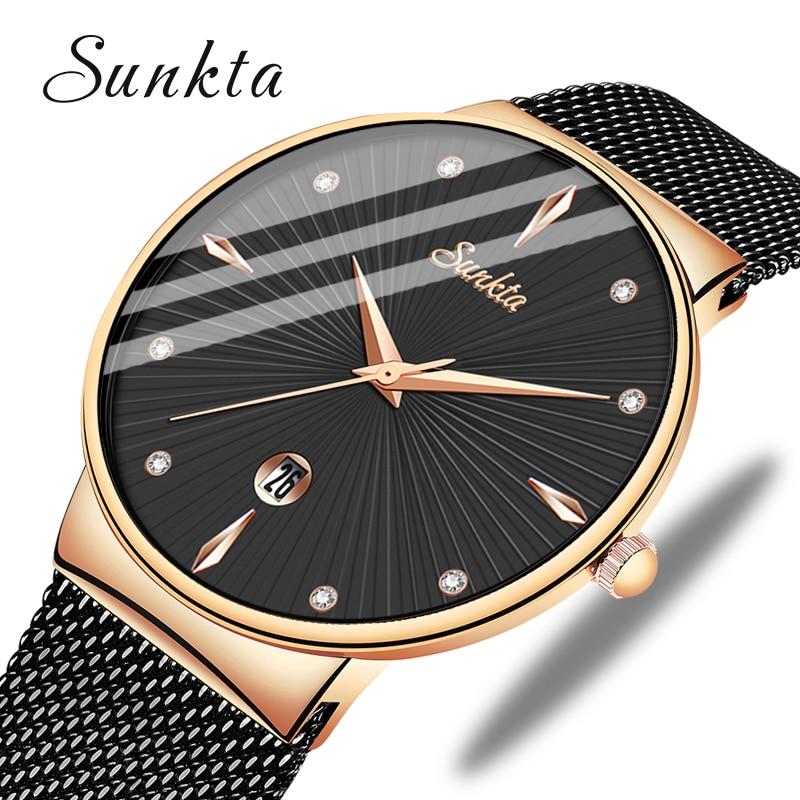 2019 Hot Women's Watch SUNKTA Brand Luxury Fashion Ladies Watch Waterproof Lady Bracelet Reloj Mujer Clock Relogio Feminino+Box
