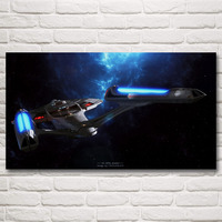 Star Trek Spaceship Blueprints Spaceship Space Nebula Movie Art Silk Poster Print Home Decor Pictures 11x20