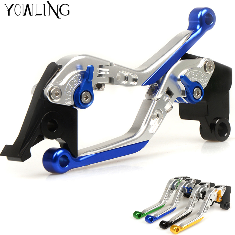 For Yamaha FZ6 FAZER/S2 2004 - 2010 Clutch Brake Levers CNC Adjsustable 2005 2006 2007 2008 2009 Motorcycle Accessories Aluminum for yamaha bt1100 bulldog 2003 2004 motorcycle accessories cnc aluminum adjustable short brake clutch levers gold
