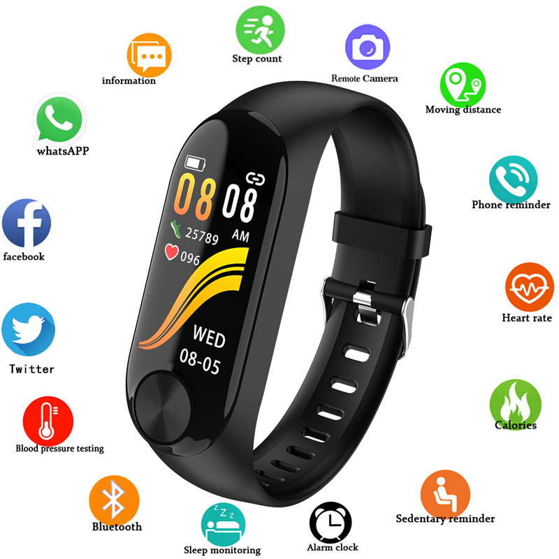 New Sport Smart Watch Men Women Bluetooth Digital Watch Waterproof Activity Fitness Tracker Watches Blood Pressure Android ios(China)