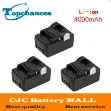 3PCS High Quality New 18V 4000mAh Power Tool Battery For Hitachi BSL1830 BSL1840 330067 Power Tool