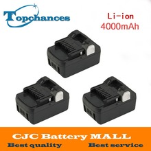 3PCS High Quality New 18V 4000mAh Power Tool Battery For Hitachi BSL1830  BSL1840 330067 Power Tool 4000mAh