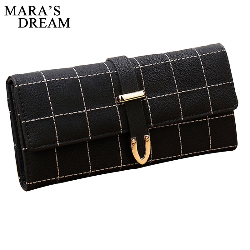Mara's Dream Ladies Wallet Girl Long Design Wallets Coin Card Holders Purse Women PU Leather Thread Wallets Clutch Money Bags silver stone pattern long clutch wallets women pu leather coin purse brand female card holders wallet elegant ladies evening bag