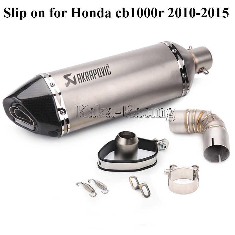 Dành Cho Xe Honda CB1000R CB 1000R Xe Máy Xả Hút Hệ Thống Kết Nối Giữa Trung Liên Kết Ống Với Akrapovic Thoát Khí Thoát Rò Rỉ Đầu