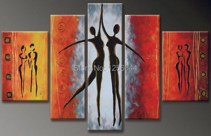 100% handgeschilderde olieverf danser olieverf home decor art muur impressionistische olieverf art digitale fotolijst