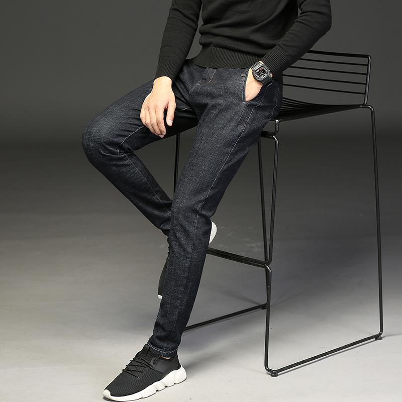2018 New Products Push Four Seasons Stretch Black Feet Jeans Casual Mens Pants Personality Hot Wild Fashion Classic Hip Hop