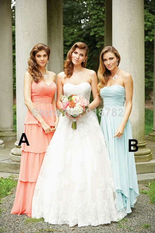 702f706541 Coral Mint Green Turquoise Purple Custom Made Color Chiffon Tiered ...