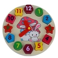 Baby Toy Wooden Sharp Sorting Clock Digital Geometry Clock Blocks Kids Educational Toy Building blocks Gift
