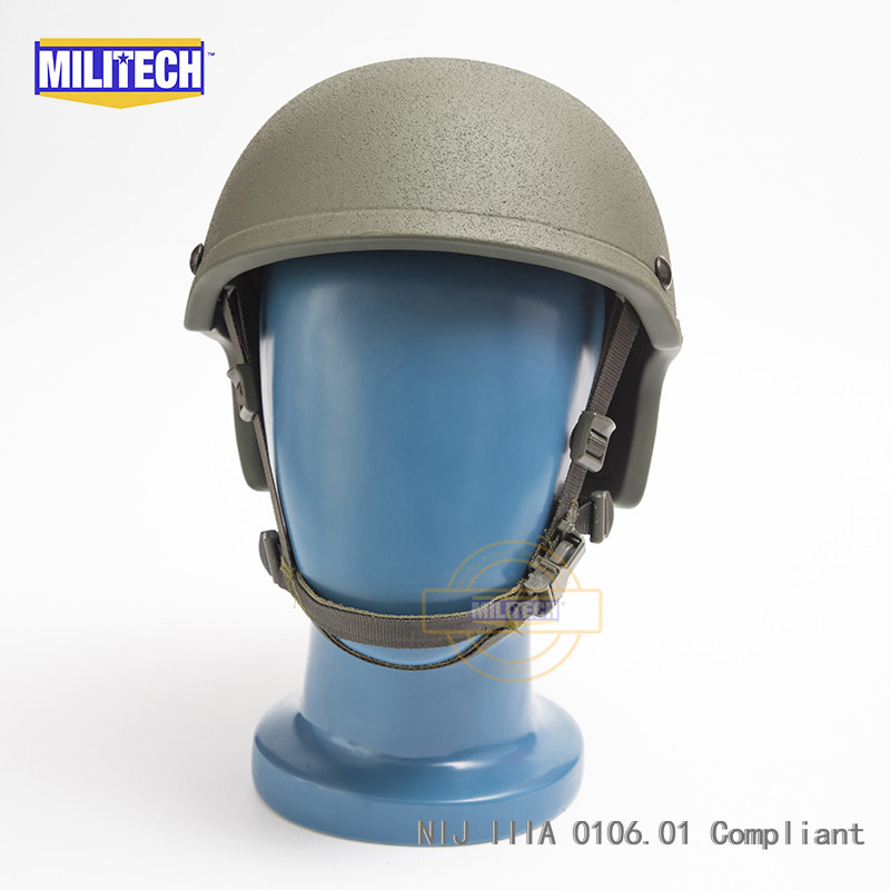 MILITECH Oliver Drab OD NIJ Level IIIA 3A High Cut Bulletproof Ballistic Aramid Helmet With 5 Years Warranty CVC DEVGRU Helmet