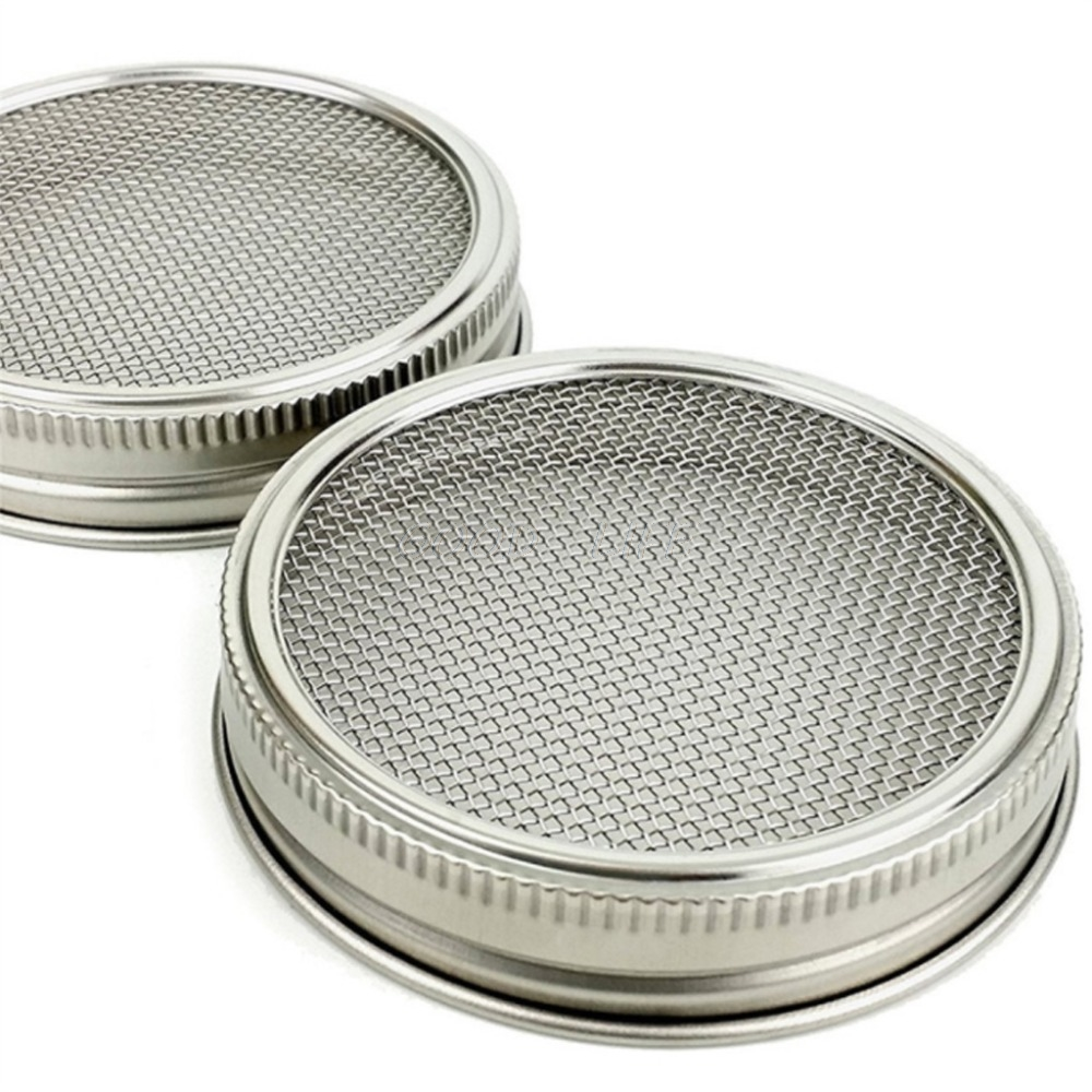 Mason-Jars Strainer-Lids Germination-Cover-Kit Sprouting Stainless-Steel Seed with 1set
