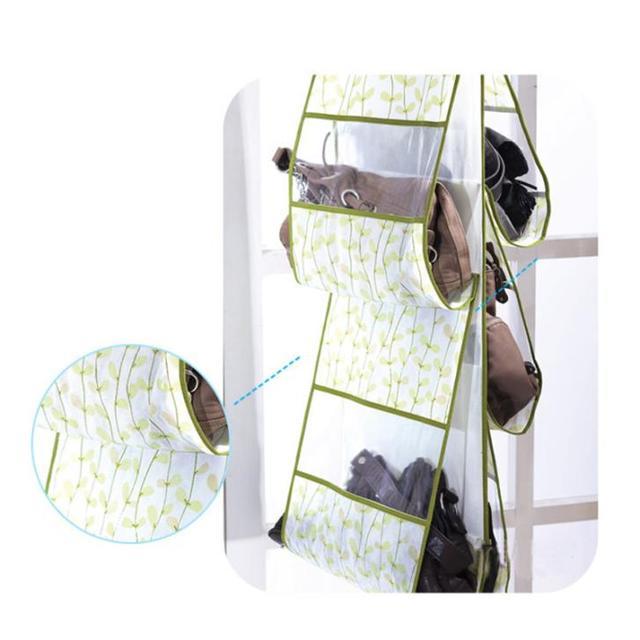 Quality Guaranteed 5 Pocket Shelf Bags Purse Handbags Organizer Wall  Hanging Storage Closet Hanger For Retail