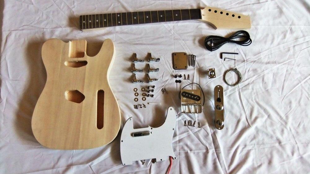 2018 nouveau kit de bricolage populaire TL ensemble guitare électrique Basswood corps érable cou palissandre touche avec accessoires livraison gratuite