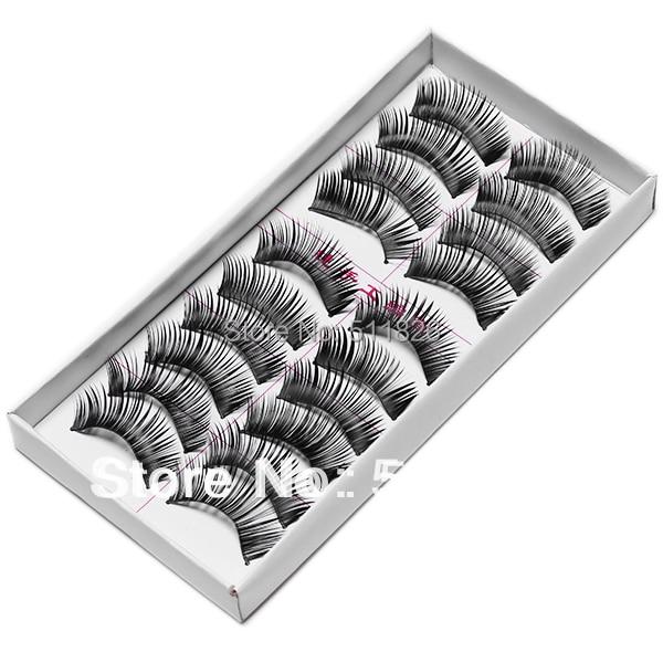 Free shipping New 10 Pair Thick Long False Eyelashes Eyelash Eye Lashes Voluminous Makeup #8472