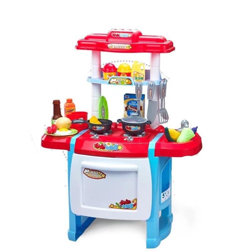 24 pièces enfants cuisine jouets semblant jouer cuisine jouets ensembles bébé vaisselle heureux semblant jouer jouets bébé jouets éducatifs