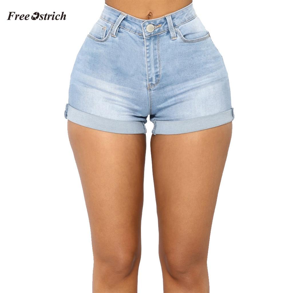 Free Ostrich Clothes Women   Jeans   Sexy Pocket High Waist Zipper Denim Slim Fit Mini Shorts Pants   Jeans   summer slim Feminino   Jeans