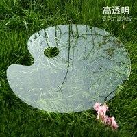 1 Pcs Transparant Acryl Aquarel Palet Verf Lade Plastic voor DIY Craft Professionele Art Schilderen Pallet    -