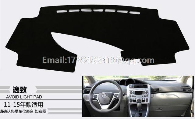 for toyota Verso ZGR20 AUR20 2009 2010 2011 2015 2016 dashmats car-styling accessories dashboard cover