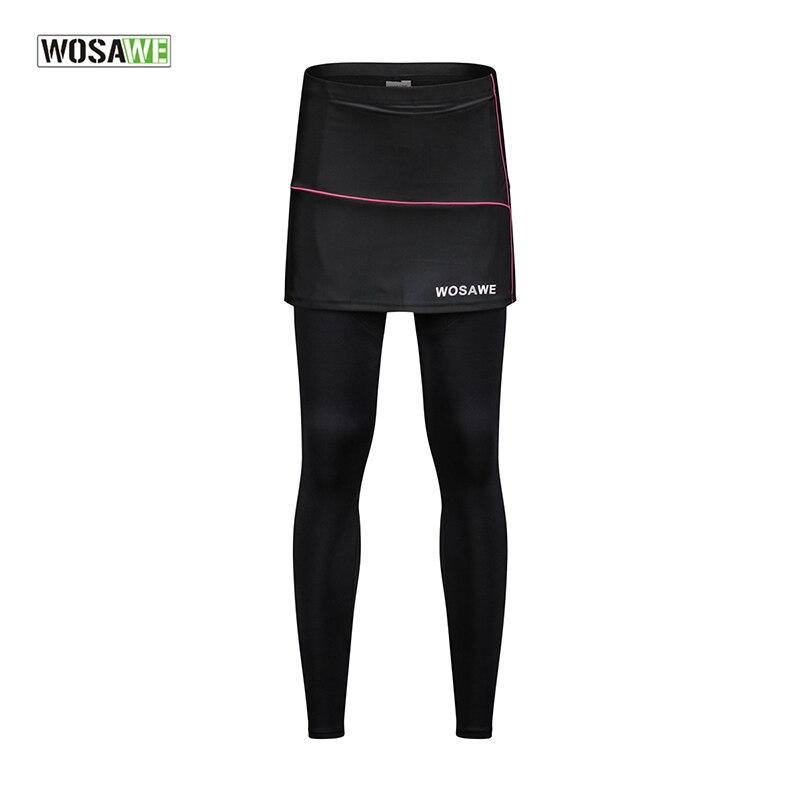 WOSAWE Radfahren Hosen Sport Hosen Lauf Leggings Gepolsterte Atmungsaktive Gym Sport Fitness Frauen Rock Wandern Sport Kleidung