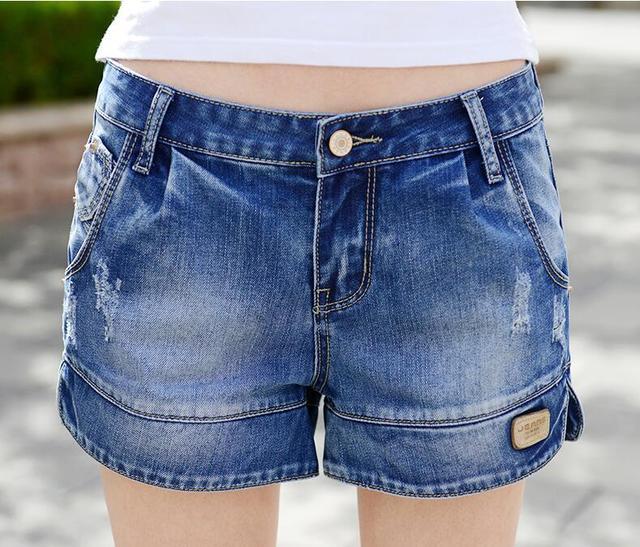 New 2016 Fashion denim shorts women Summer style elasticity women short jeans ripped edges short Beach sexy shorts for women 712