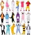 Unisex Adultos Franela Con Capucha Pijamas Traje Cosplay Animal Bodies Pijamas Hombres Mujeres Unicorn Stitch Panda Envío Gratis
