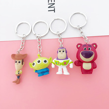 New Movie Cartoon Toy Story 4 Woody Buzz Lightyear Rex PVC Keychain Bag Gifts Kids Party Men Or Girl Key Chain
