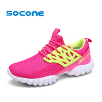 Socone Breathable Running Shoes For Women New 2016 Summer Fashion Women Sneakers Ladies Sport Shoes Woman