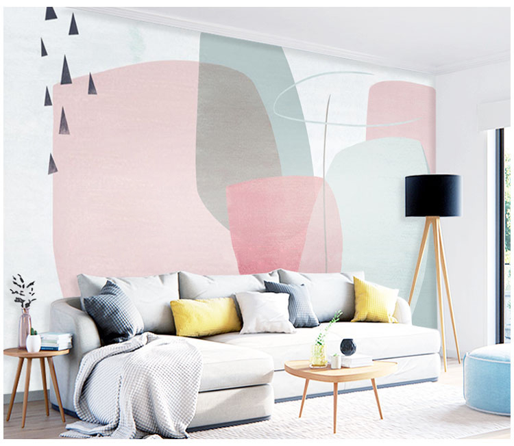 Bacaz Geometry 8D Papel Cartoon Mural Wallpaper for Girls kids Room 3d Wall Mural Wallpaper 3D Photo Murals bacaz small dots cartoon wallpaper roll for child kids room background wall paper rolls 3d wallcoverings