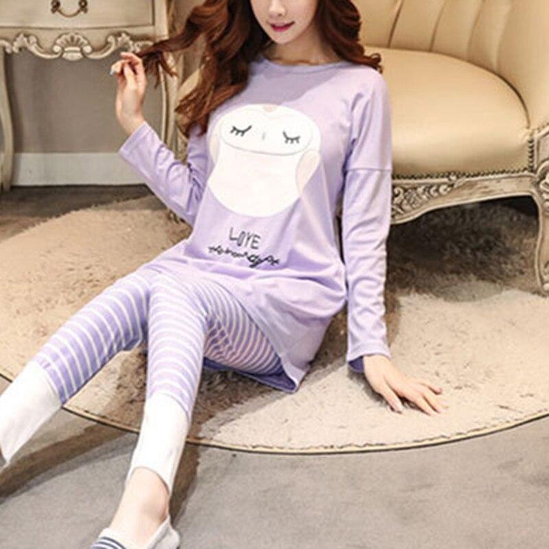 Women Pajamas Sets Long Sleeve Suit Animal Cartoon Large Size Girls Sleepwear Women Pajamas Suit Home Clothes Pajama Female