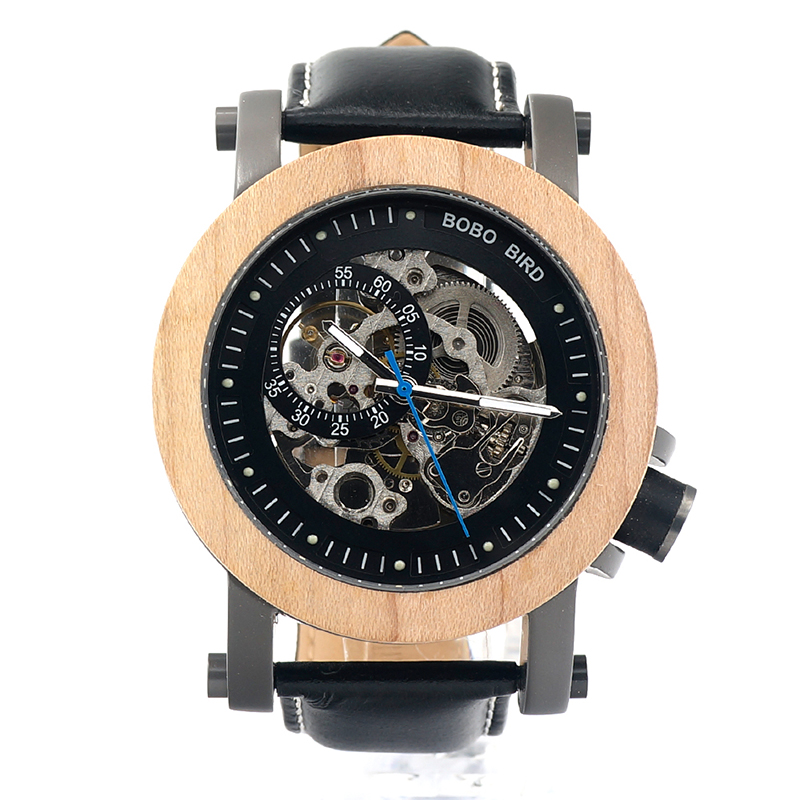 BOBO BIRD แบรนด์หรูนาฬิกาผู้ชายไม้เมเปิลนาฬิกาข้อมือ relogio masculino ของขวัญกล่อง C K14-ใน นาฬิกาข้อมือกลไก จาก นาฬิกาข้อมือ บน   3