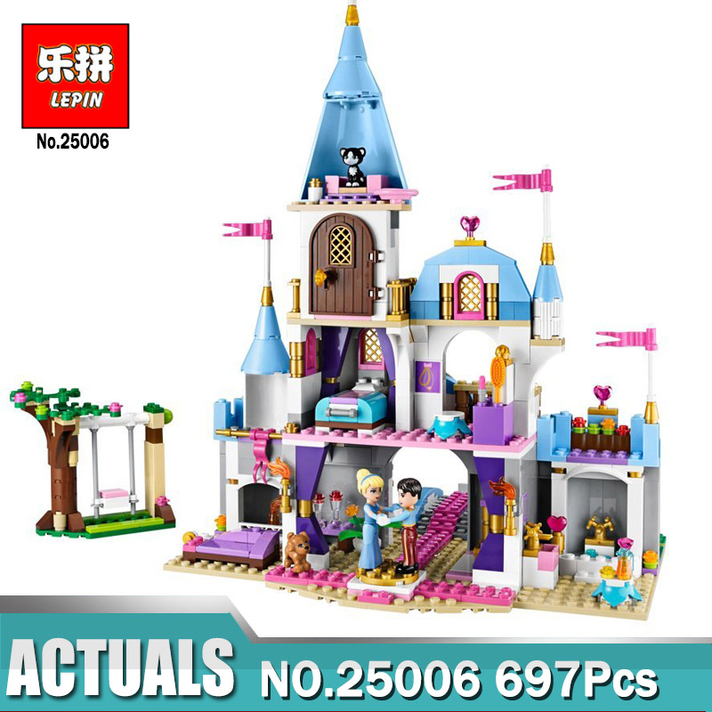 Lepin Building Blocks Model 25006 Compatible Legoes Pricess Cinderellas Romantic Castle 41055 Toys For Children