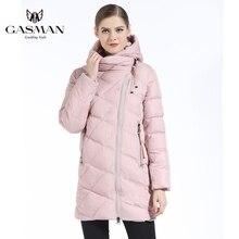 GASMAN Womens Jackets And Coats Winter 2018 Fashion Medium Length Hooded Thick Parka Down Jacket Casual Overcoats New Winter цены онлайн