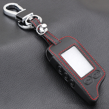 VCiiC Leather Case KeyChain For Russian 2 way Alarm System Key Fob For Tomahawk TZ 9010 TZ9010 Tomahawk TZ9030,TZ 9030,TZ 9030