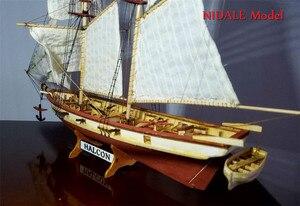 Image 4 - Spanish Baltimore Schooner Ship model building Kits Halcon Retro cannons luxurious sailboat model Offer English Instruction