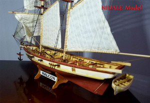 Image 4 - İspanyolca Baltimore Schooner gemi modeli yapı kitleri Halcon Retro topları lüks yelkenli modeli İngilizce talimat