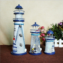 2018 Mediterranean Style Lighthouse Figurine Conch Fishing N