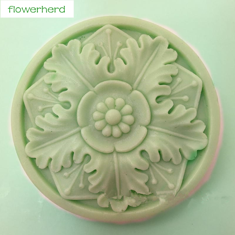 Flower Silicone Mold Soap Making Tools For DIY Fondant Cake Craft  Candle Cupcake Baking Mold Muffin Pan Handmade DIY Decorating