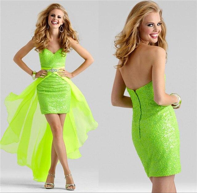 Cheap Sweetheart Neckline Emerald Green Detachable Skirt Satin ...