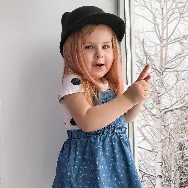 หมวกเด็กแมวหูหมวกสำหรับสาวปานามาหมวกเด็กหมวกฤดูหนาว