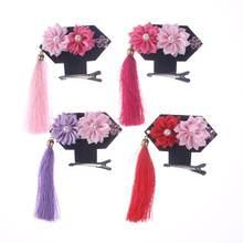 Новинка модная китайская заколка для волос с кисточками и цветами