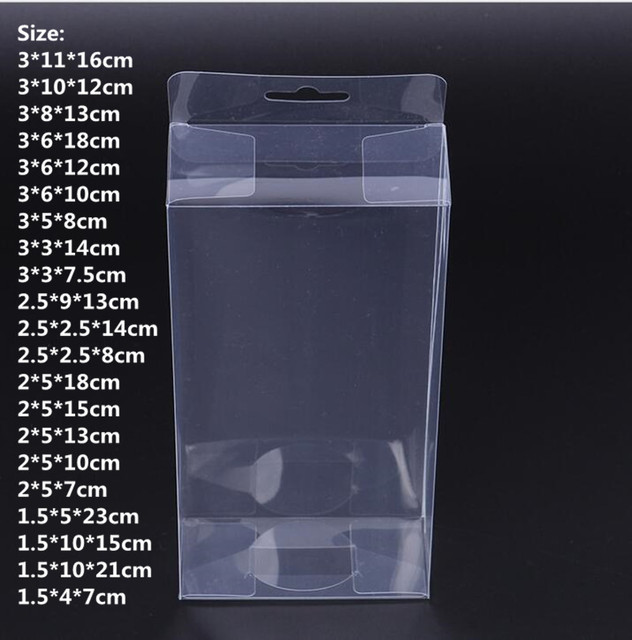 ec0f3b85bde 50PCS PVC Clear Plastic Packaging Boxes with Hang Hole Gift Box PVC Carry  Cases Packaging Box For jewelry Candy toys-in Gift Bags   Wrapping Supplies  from ...