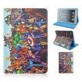 Legoed Super Hero Marvel Super Hero Мстители Прочный Раза флип Стенд ТПУ + ПУ Кожаный Чехол Tablet Чехол Для iPad Mini 1/2/3