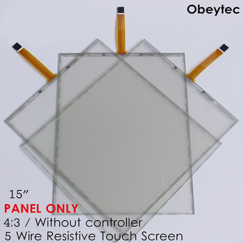 15 Inch 5 Wire Resistive Touch Screen Panel Kit without Controller 302*226mm 4:3