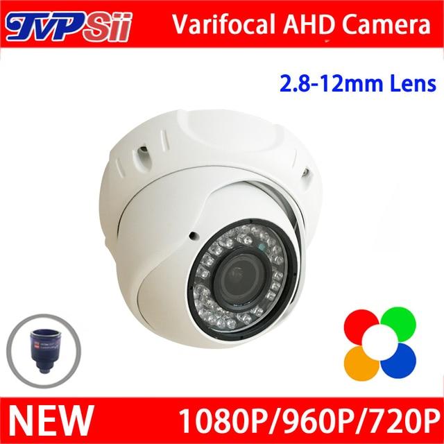 New Metal Case 36 pcs Leds infravermelho 3mp 2.8mm-12mm Lente Varifocal 1080 P/960 P/720 P AHD Câmera Dome CCTV Segurança Frete Grátis