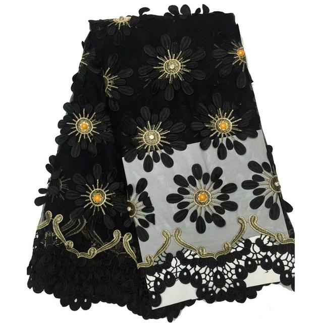 c2129d1c6421d US $76.5 25% OFF|Embroidered Tulle Lace Fabric With Big Beads and Big  Stones High Quality African Fabric Black Yellow Pink Nigerian Lace  Fabrics-in ...