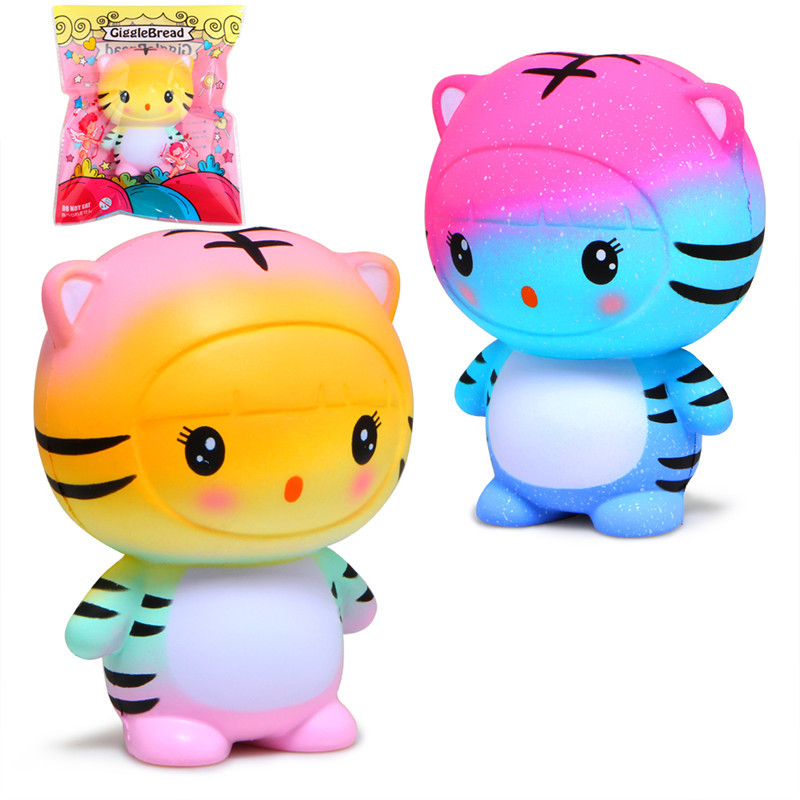 2018 <font><b>Big</b></font> Deer Kitty Cat Tiger <font><b>Squishy</b></font> <font><b>Toys</b></font> anti-stress Slow Rising Stress Relief Super Soft PU Squeeze <font><b>Toy</b></font> Gifts for Children image