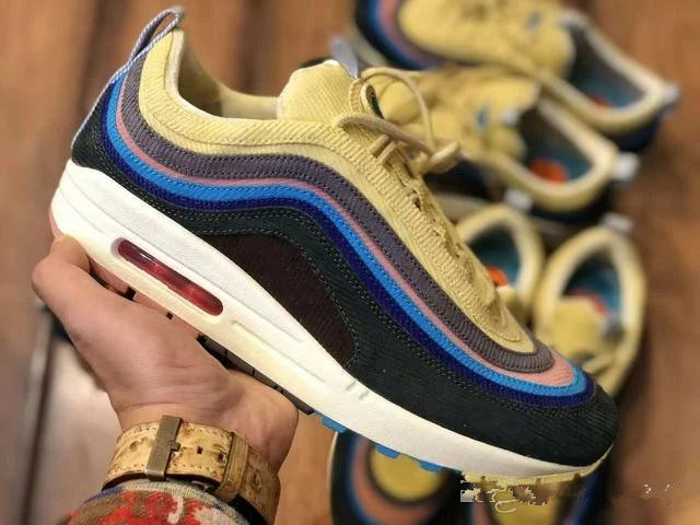 4c4c8e803e Max 97 Sean Wotherspoon Women Men Running Shoes Silver Bullet Triple balck  Metallic Gold Mens Casual Sport trainers Sneakers