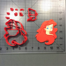 Cartoon Film Character Eric Ursula Made 3D Printed Cookie Cutter Set Fondant Cake Decorating Tools