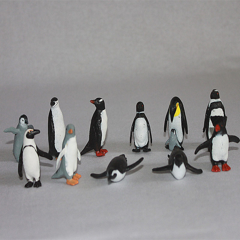 PVC figure Doll model toy Scene simulation Marine animal penguin Emperor enterprises plastic ornaments scene set