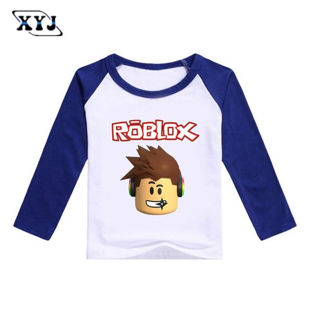 995fac6cc 2017 Outono T-shirt de Manga Comprida Para As Meninas Roblox Camisa Blusa  Amarela para