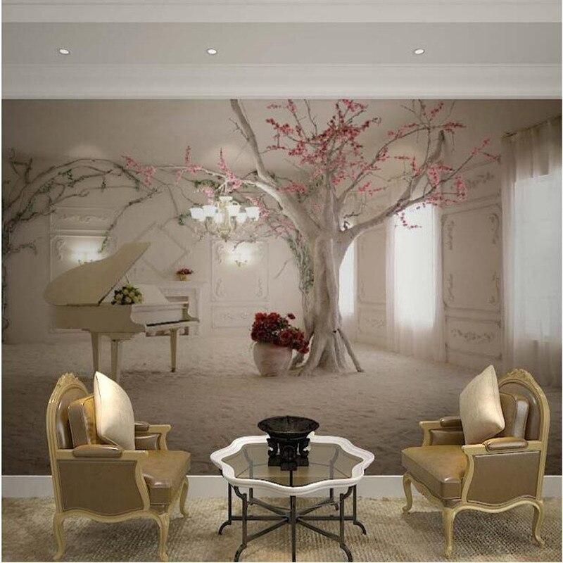 US $17.21 |Gewohnheit irgendeine größe 3D wandbild tapeten für wohnzimmer  Moderne mode schöne neue foto wandmalereien baum tapete-in Tapeten aus ...